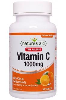 Витамин C с бавно освобождаване, 1000 мг - 30 таблетки